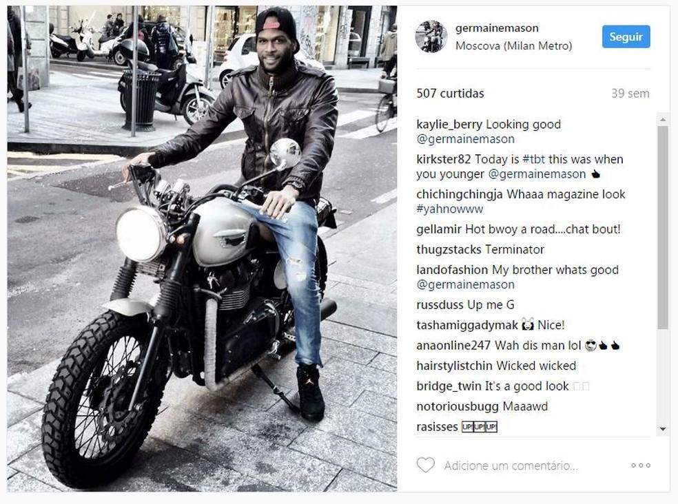 Germaine Mason sofreu um acidente de moto em Kingston, na Jamaica (Foto: Reprodução/Instagram)