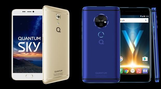 Quantum Sky e Quantum V: novos modelos da fabricante brasileira de smartphones  (Foto: Divulgação)