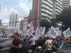 Sindicato dos vigilantes realiza manifestação no Bairro Aldeota