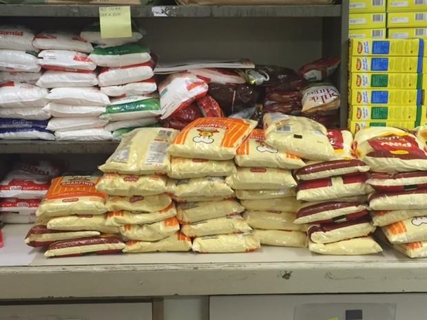 Alimentos que são colocados nas cestas do Inca (Foto: Cristina Boeckel/ G1)