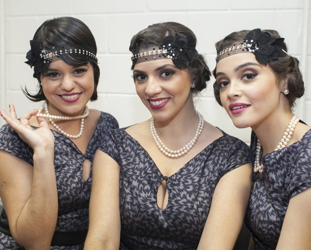 Maitê, Gabriela Catai e Giovanna chamam atenção com seus figurinos (Foto: Dafne Bastos / TV Globo)