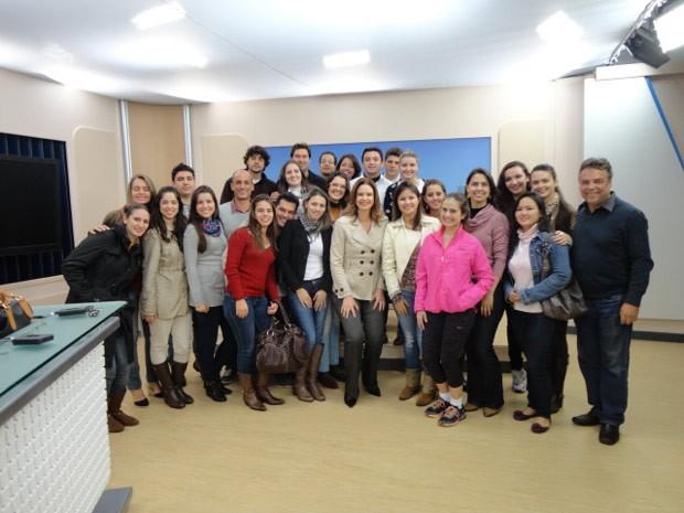 RPC TV Maringá abriu as portas para os estudantes (Foto: Divulgação/RPC TV)