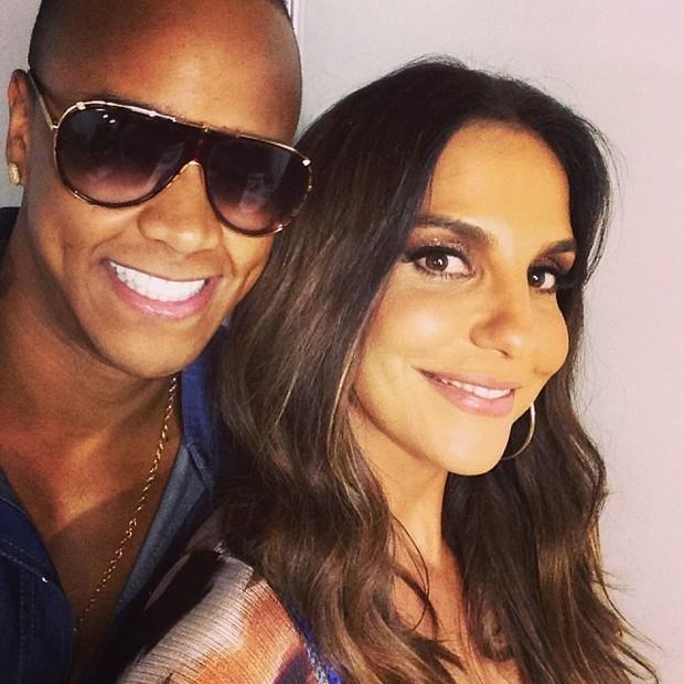 Léo Santana e Ivete Sangalo em show em Salvador, na Bahia (Foto: Instagram/ Reprodução)