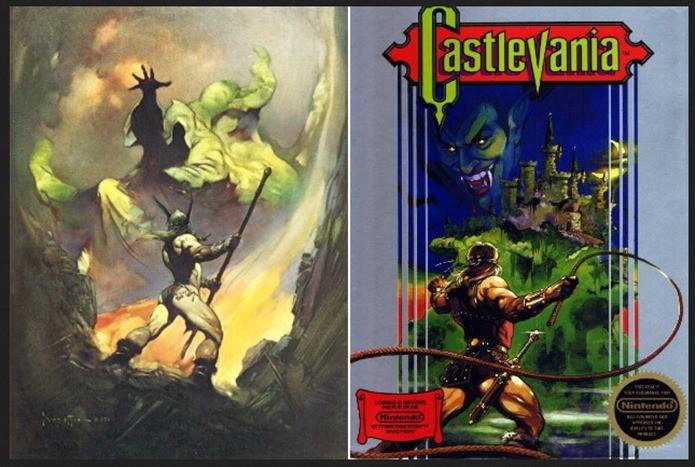 Capas da versão americana do jogo eram muito inspiradas (Foto: Reprodução / Arcadesushi)