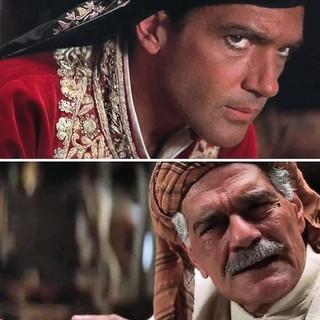 Antonio Banderas e Omar Sharif (Foto: Reprodução/Instagram)