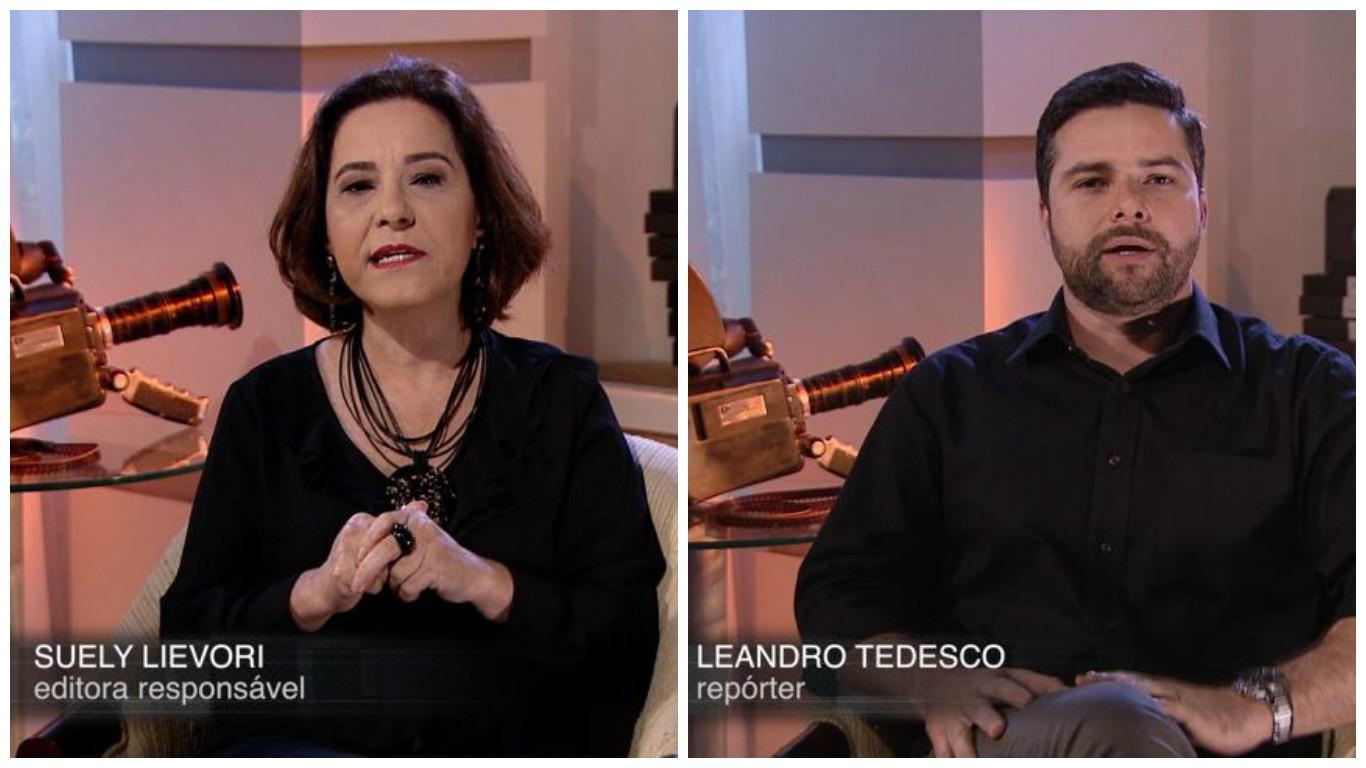 Syelu Lievori e Leandro Tedesco falam dos 40 anos da TV Gazeta (Foto: Divulgação/ TV Gazeta)