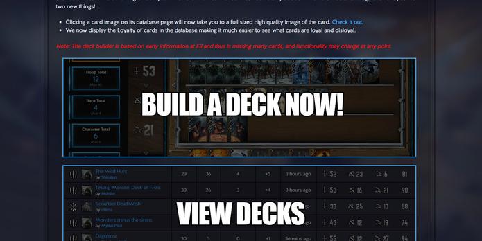 Saiba como construir seu deck no Gwent Deckbuilder (Foto: Reprodução/Felipe Vinha)