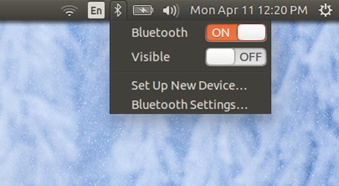 O Bluetooth está sempre ativo no Ubuntu. Se você não usa com frequência, pode desligar (Foto: Reprodução/Filipe Garrett)