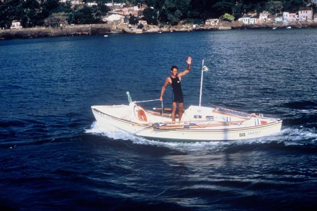 Amyr Klink em 1984, ano da travessia a remo do Atlântico Sul (Foto: Reprodução/ Flickr)