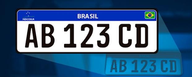 Modelo Placa Mercosul (Foto: Divulgação )