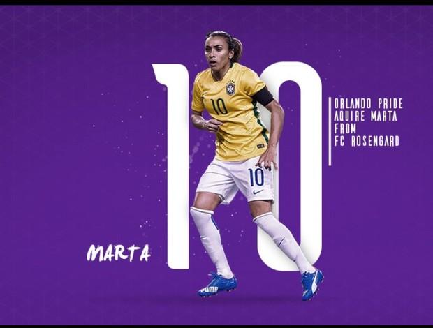 Marta anunciada pelo Orlando