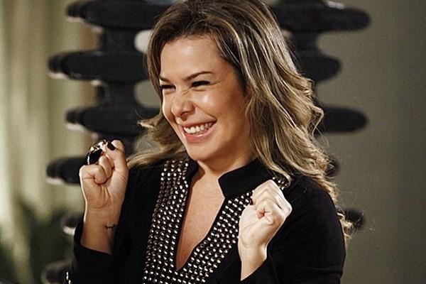 Em 2013, Fernanda voltou à Malhação com a perua boa gente Bernardete. (Foto: Malhação / Gshow)
