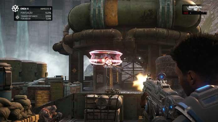Enfrente chefes em Gears of War 4 (Foto: Reprodução/Murilo Molina)