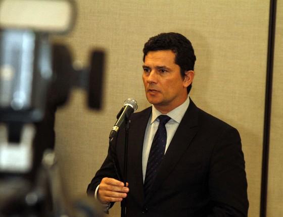 Juiz Sergio Moro no velório do Ministro Teori Zavascki no Tribunal Regional Federal da 4° Região (Foto: Evavndro Oliveira/Photo Press/ / Ag. O Globo)