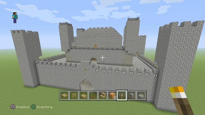 Confira como criar um castelo simples em Minecraft (Foto: Reprodução/Rafael Monteiro)