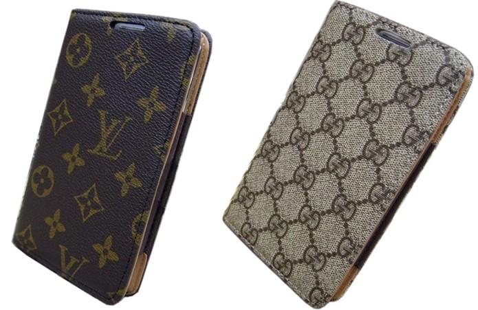 Capas para Galaxy Note com logos de Louis Vuitton e Gucci (Foto: Divulgação/Ali Express)