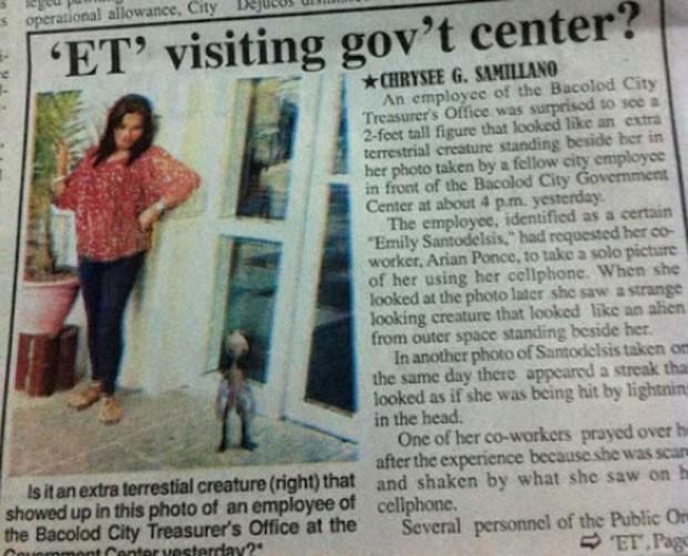 Filipina alega que criatura estranha apareceu em foto (Foto: Reprodução)