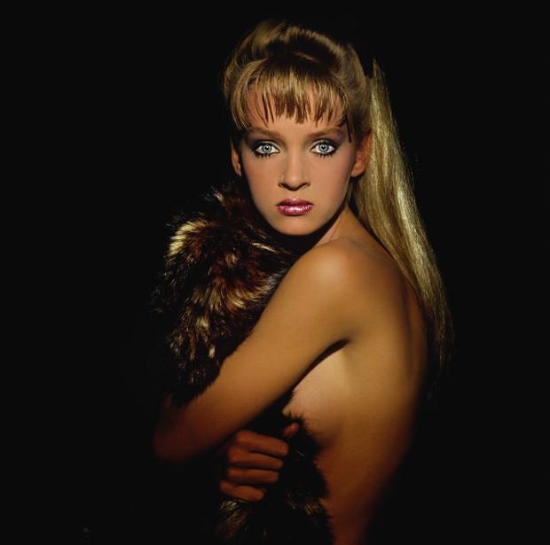 Uma Thurman em um dos seus primeiros ensaios como modelo. (Foto: Divulgação)