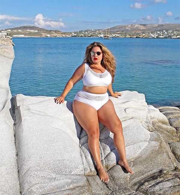 Fluvia Lacerda : a brasileira se transformou em ícone como modelo plus size (Foto: Divulgação)