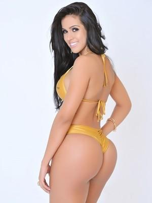 Modelo foi escolhida a brasileira com o bumbum mais bonito (Foto: Divulgação/ Miss Bumbum)
