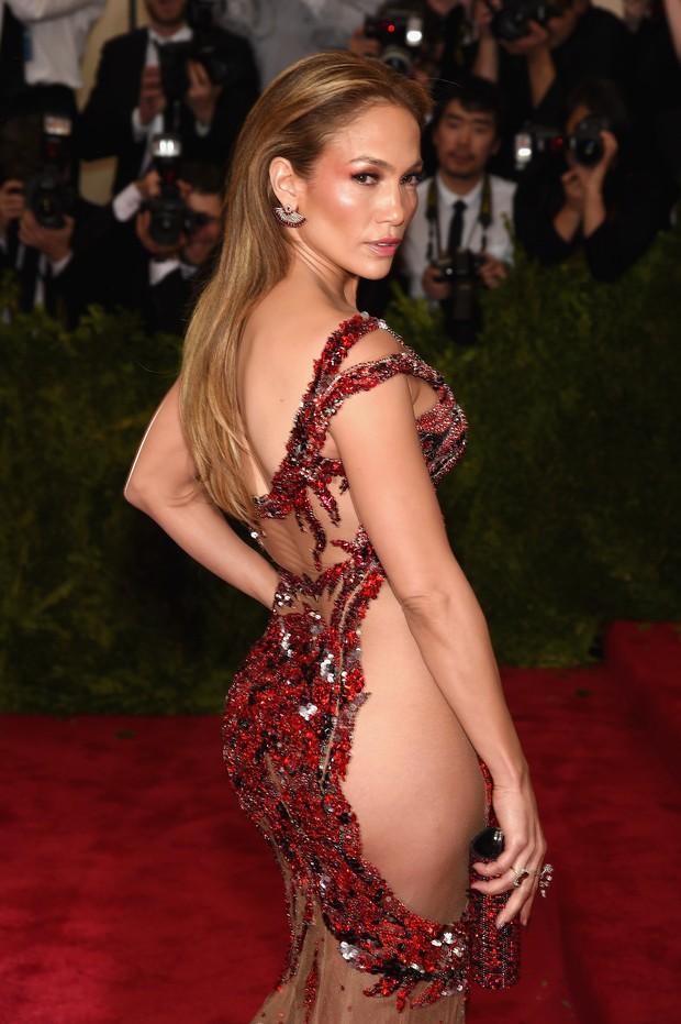 Jennifer Lopez no baile de gala do MET, em Nova York (Foto: Getty Images)