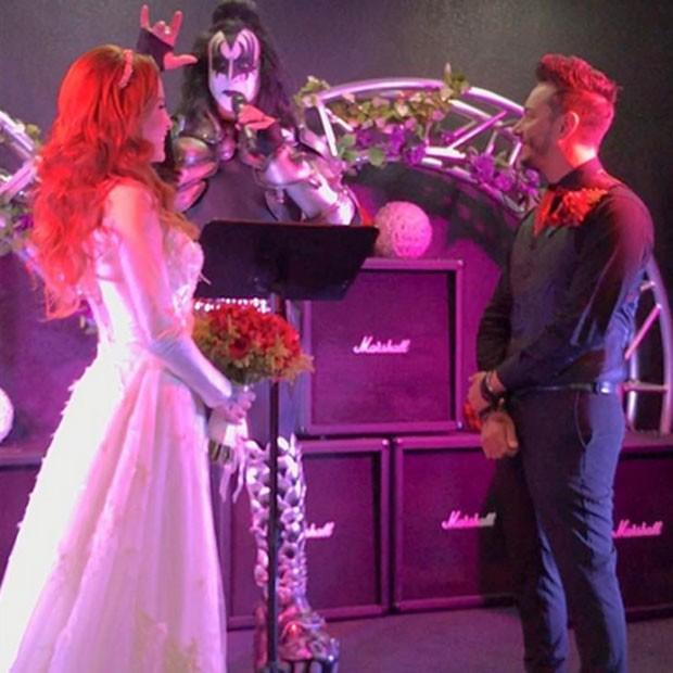 Ex-BBB Clara Aguilar se casa com o produtor musical Giu Daga em Las Vegas, nos Estados Unidos (Foto: Instagram/ Reprodução)