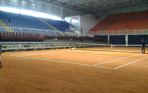 Arena pronta para o jogo de Guga contra Lapentti (Foto: João Lucas Cardoso / globoesporte.com)