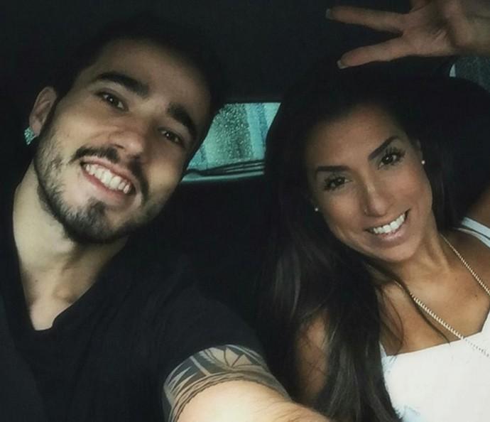 Juliana Dias e irmão instagram (Foto: Arquivo pessoal)