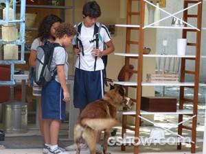 Fulano pega a caixa de Frédéric (Foto: Malhação / TV Globo)
