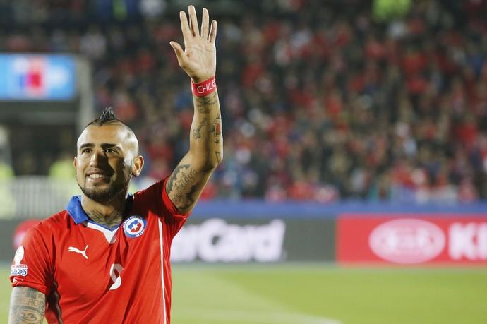 Vidal Chile x Bolívia Copa América (Foto: Reuters)