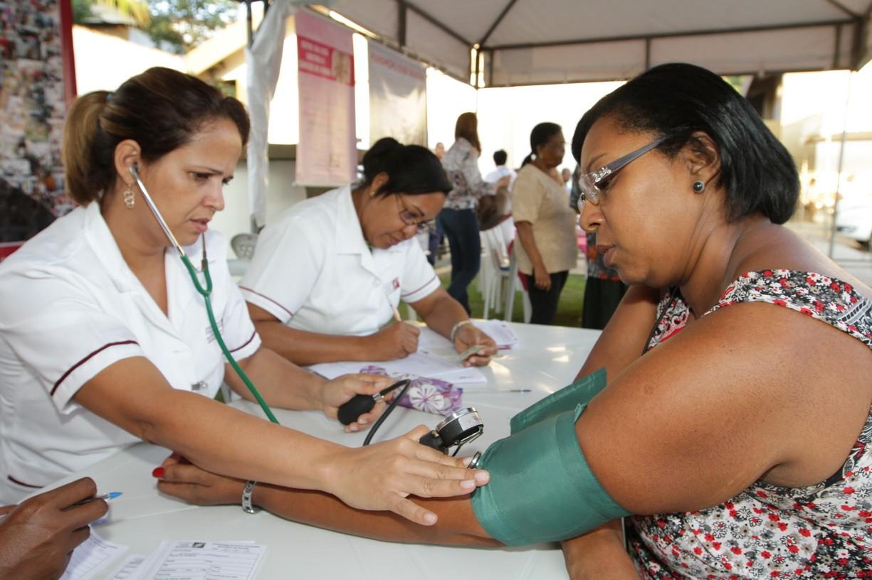 Ação Dia Internacional da Luta pela Saúde da Mulher (Foto: Paulo Macedo)