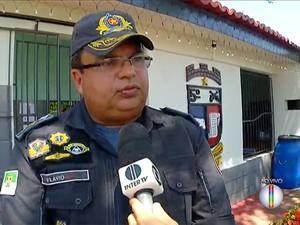 Comandante do 5ª BPM, Flávio Melo, reforçou importância do registro das ocorrências para elaboração de planejamento (Foto: Reprodução/Inter TV Cabugi)