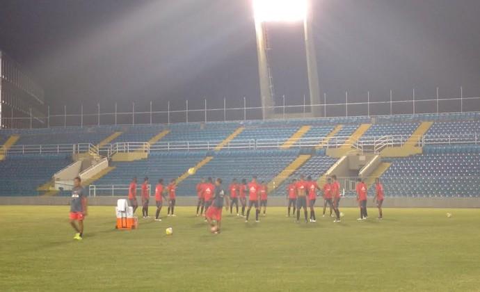 Treino Flamengo Fortaleza (Foto: Thais Jorge)