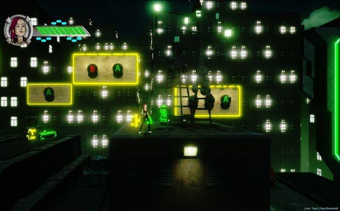 A heroína April está num futuro distópico no jogo Cyberpunk X-01 (Foto: Divulgação)