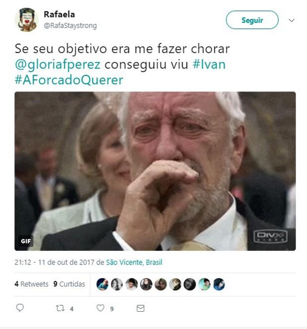 Agressão de Ivan em A Força do Querer repercute na web (Foto: Reprodução/Twitter)