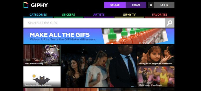Giphy permite encontrar Gifs de forma gratuita (Foto: Reprodução/Barbara Mannara)