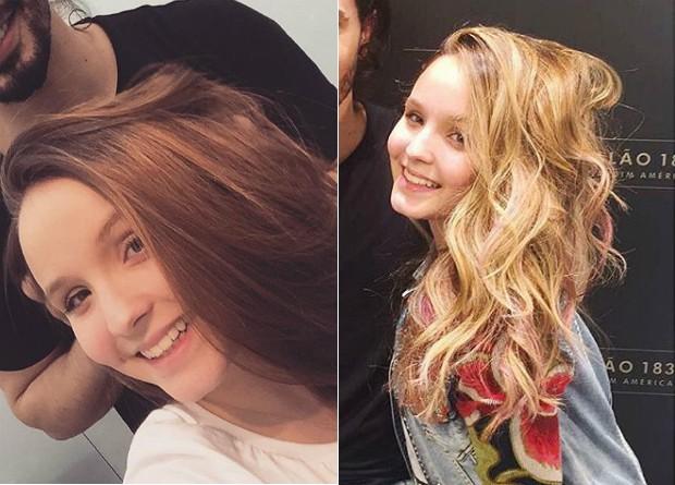 Larissa Manoela: antes e depois (Foto: Reprodução/Instagram)