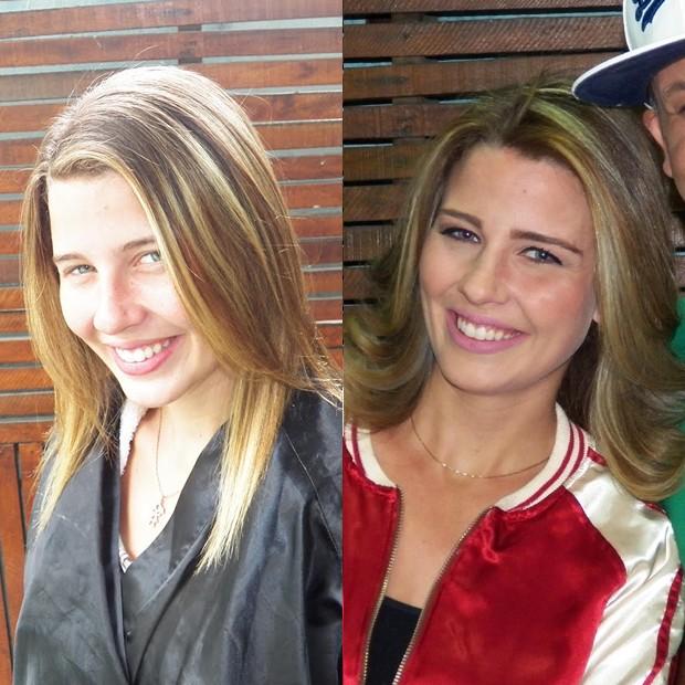 Debby Lagranha, antes e depois da mudança (Foto: Giselle Paula / Divulgação)