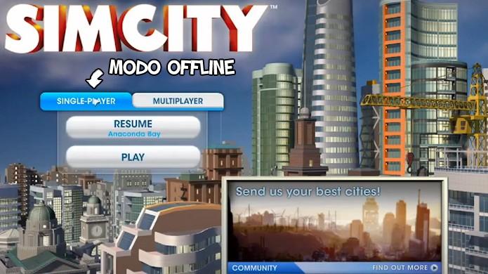 Modo online e offline foram divididos em Single-Player e Multiplayer, respectivamente (Foto: Reprodução: Rafael Monteiro)