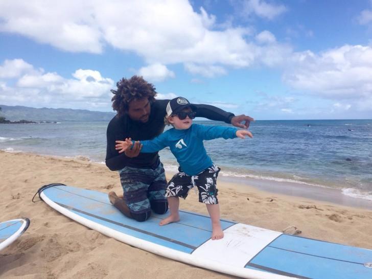 Sérgio Lima dando aula no Havaí