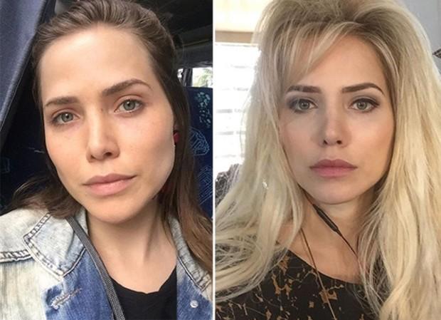 Antes e depois de Letícia Colin (Foto: Reprodução/Instagram)