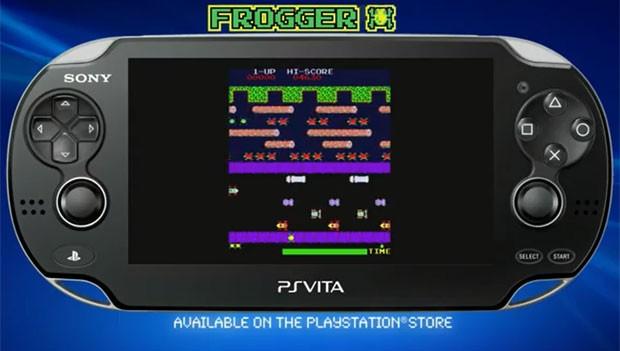 O clássico 'Frogger' está disponível para ser jogado no PS Vita (Foto: Divulgação)