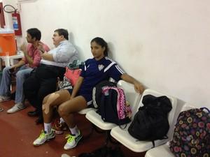 Jú Odilon tenta se recuperar a tempo de jogar a final (Foto: Alexandre Ribeiro/GloboEsporte.com)