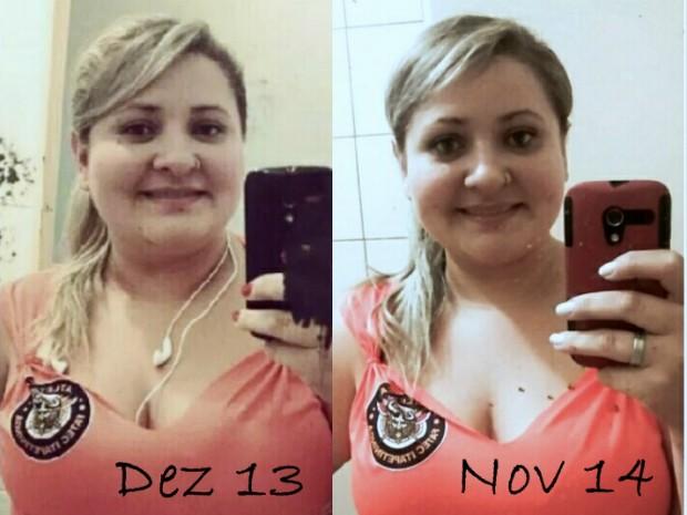 Mariana engordou 49kg em um ano e meio (Foto: Arquivo Pessoal/ Mariana Rosa)