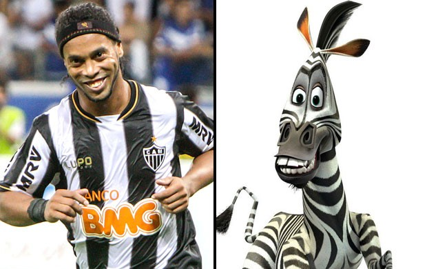 Montagem Ronaldinho e Martin Madagascar (Foto: Editoria de Arte)