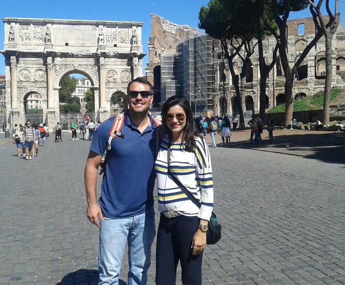 Os dois também passaram por Roma, na Itália (Foto: Arquivo Pessoal)