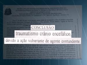 Laudo aponta traumatismo como causa da morte em Matão (Foto: Reprodução/EPTV)