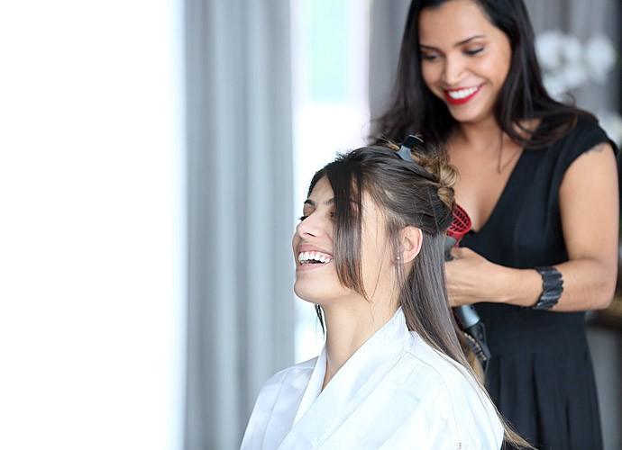Fran ficando ainda mais linda (Foto: Isabella Pinheiro/Gshow)