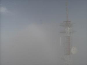 Nevoeiro tomou conta do céu de Ribeirão Preto (SP) neste sábado (23). (Foto: Reprodução/EPTV)
