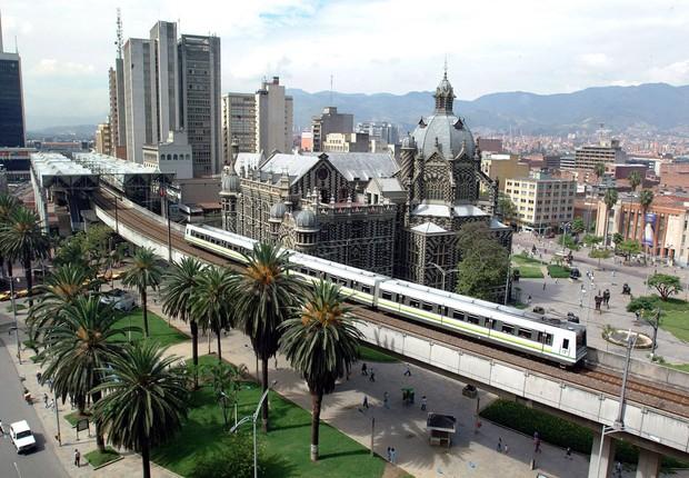 Cidade de Medellin. na Colômbia (Foto: Reprodução/Instagram)